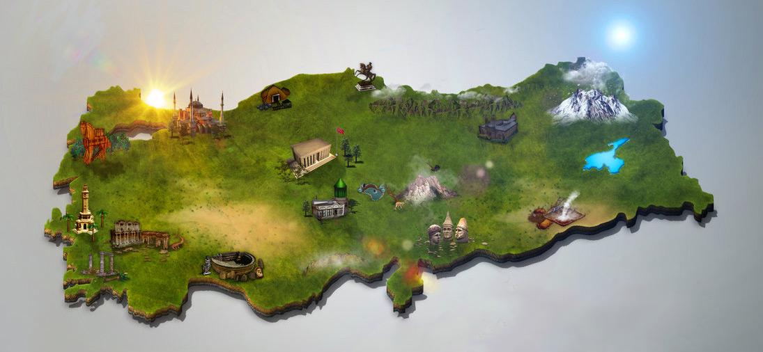 3 boyurlu türkiye haritası